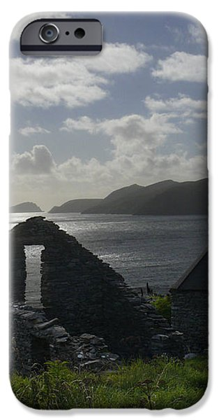 Rock Ruin by the Ocean - Ireland iPhone Case by Mike McGlothlen