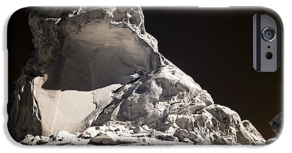 Rock Shapes iPhone Cases - Rock Shape at Valley of Fire iPhone Case by John Rizzuto