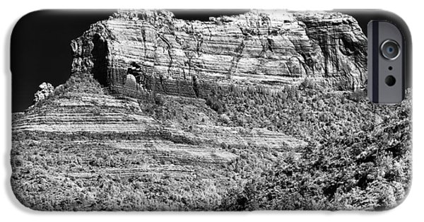 Rock Shapes iPhone Cases - Rock Shapes in Sedona iPhone Case by John Rizzuto