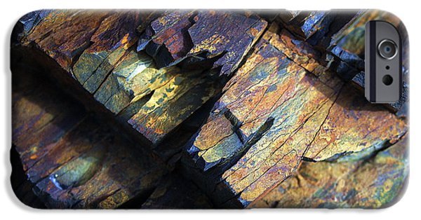Nature Abstracts iPhone Cases - Rock Texture 2 iPhone Case by Bill Caldwell -        ABeautifulSky Photography