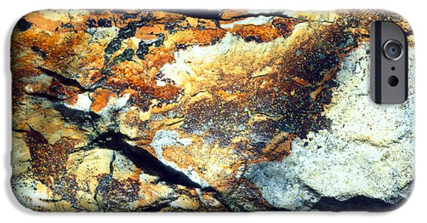 Lichens iPhone Cases - Rock Wasatch National Forest Ut Usa iPhone Case by Panoramic Images