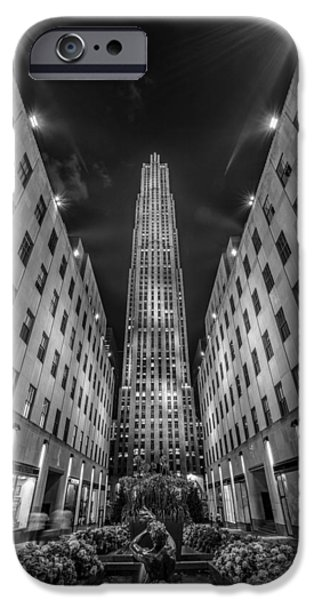 Newyork iPhone Cases - Rockefeller Center - New York 1 iPhone Case by Larry Marshall
