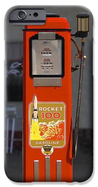 Rockets iPhone Cases - Rocket 100 Gasoline - Tokheim Gas Pump iPhone Case by Mike McGlothlen