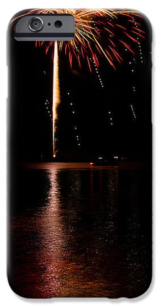 Fourth Of July iPhone Cases - Rockets Away iPhone Case by Chad Cooper