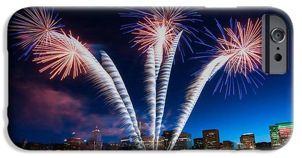 Fireworks Photographs iPhone Cases - Rockets Red Glare iPhone Case by Brian Bonham