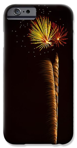 4th July Photographs iPhone Cases - Rockets Skyward  iPhone Case by Saija  Lehtonen