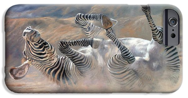 Zebra iPhone Cases - Rockin and Rollin iPhone Case by David Stribbling