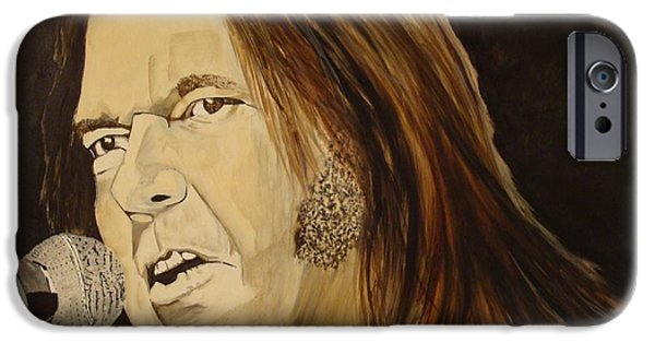 Neil Young Paintings iPhone Cases - Rockin The Free World Forever iPhone Case by Stuart Engel