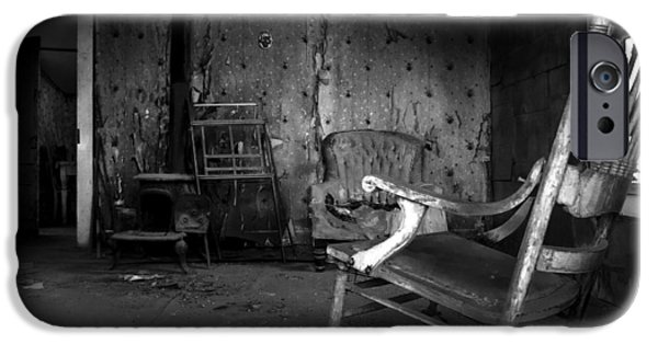 Haunted Houses iPhone Cases - Rocking Chair iPhone Case by Cat Connor