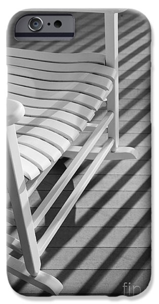 Rocking Chairs Photographs iPhone Cases - Rocking Chair on the Porch iPhone Case by Diane Diederich