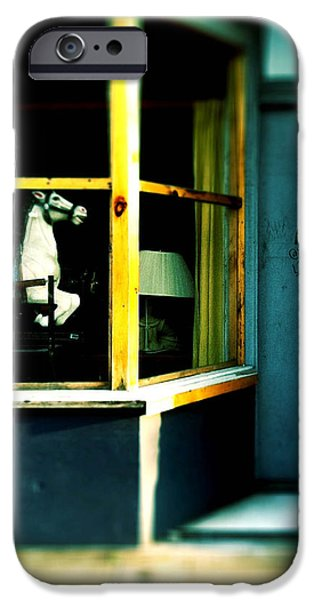 Rocking Horse in Window iPhone Case by Amy Cicconi