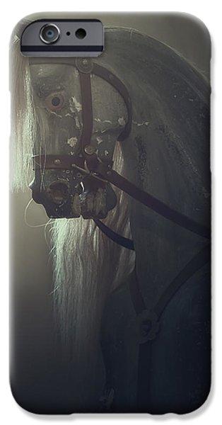 Creepy iPhone Cases - Rocking Horse iPhone Case by Joana Kruse
