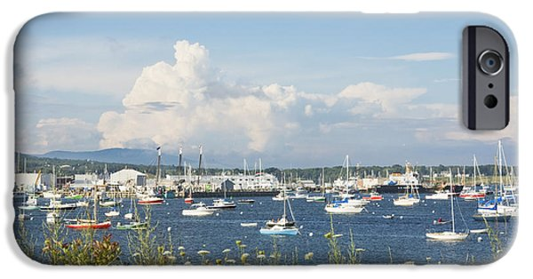 Sailboat Ocean iPhone Cases - Rockland Harbor on the Coast of Maine iPhone Case by Keith Webber Jr