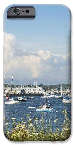 Rockland Harbor on the Coast of Maine iPhone Case by Keith Webber Jr