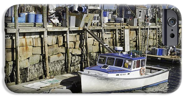 Maine Shore iPhone Cases - Rockland Maine Fishing Boats and Harbor iPhone Case by Keith Webber Jr