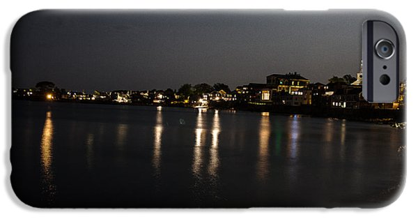 Rockport Ma iPhone Cases - Rockport At Night iPhone Case by Isaac Ber Photography