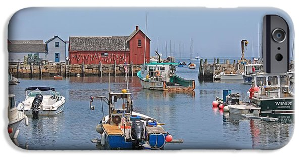 Rockport Ma iPhone Cases - Rockport Harbor Motif #1 iPhone Case by Michael Saunders