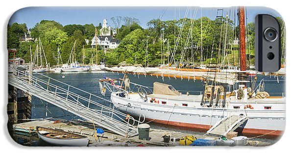 Sailboat Ocean iPhone Cases - Rockport Harbor and Boats on The Coast Of Maine iPhone Case by Keith Webber Jr