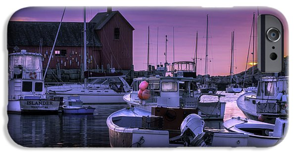 East Village iPhone Cases - Rockport Harbor at Sunrise - Open Edition iPhone Case by Thomas Schoeller