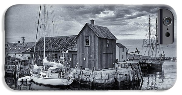 Fishing Shack iPhone Cases - Rockport Harbor Lobster Shack iPhone Case by Stephen Stookey