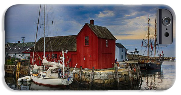 Fishing Shack iPhone Cases - Rockport Harbor Motif Number 1 iPhone Case by Stephen Stookey