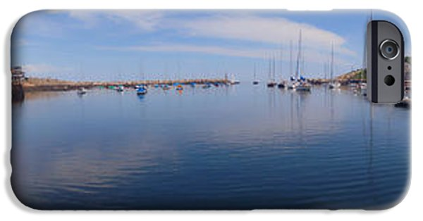 Lobster Shack iPhone Cases - Rockport Harbor Panoramic iPhone Case by Joann Vitali