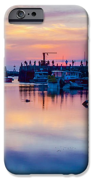 Rockport harbor sunrise over Motif #1 iPhone Case by Jeff Folger