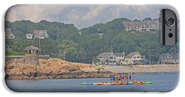 Rockport Ma iPhone Cases - Rockport MA Swim Lessons iPhone Case by Michael Saunders