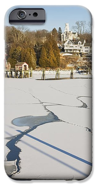 Rockport Maine in Winter iPhone Case by Keith Webber Jr