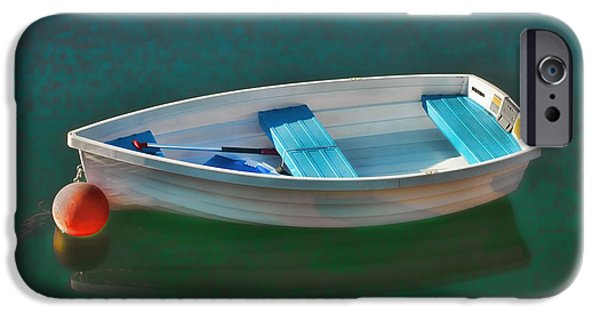 East Village iPhone Cases - Rockport Row Boat iPhone Case by Joann Vitali