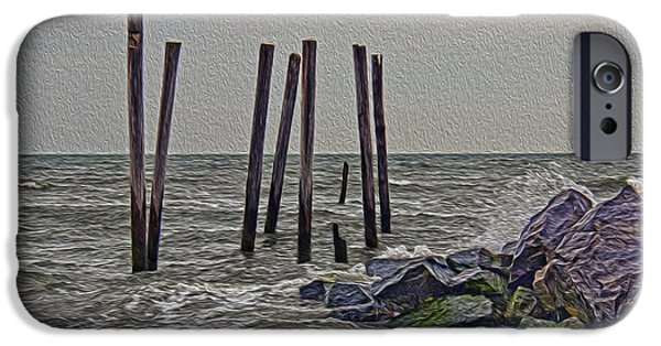 Alga iPhone Cases - Rocks at 59th Street iPhone Case by Tom Gari Gallery-Three-Photography
