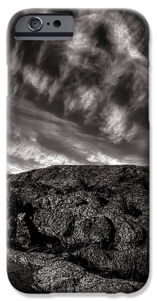 Rocks Clouds Water iPhone Case by Bob Orsillo