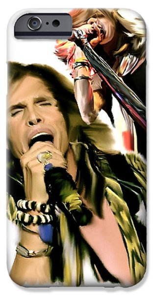 Rocks Gothic Lion  STEVEN TYLER iPhone Case by Iconic Images Art Gallery David Pucciarelli