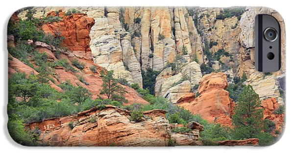 Oak Creek iPhone Cases - Rocks of Sedona iPhone Case by Carol Groenen