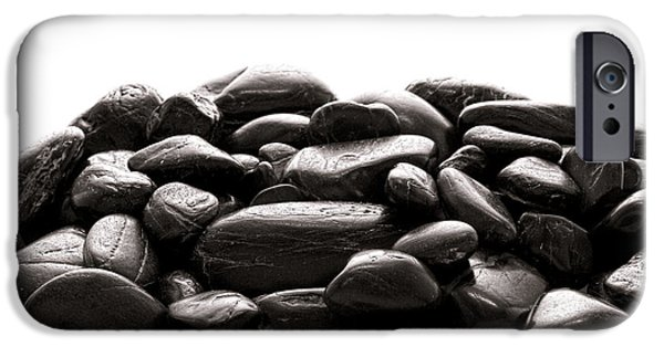 Mounds iPhone Cases - Rocks iPhone Case by Olivier Le Queinec