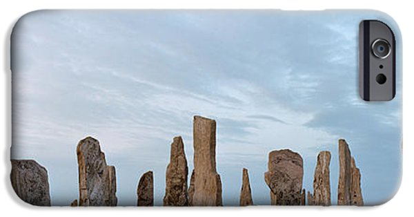 Megalith iPhone Cases - Rocks On A Landscape, Callanish iPhone Case by Panoramic Images