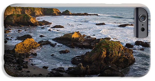Cambria iPhone Cases - Rocks On The Coast, Cambria, San Luis iPhone Case by Panoramic Images
