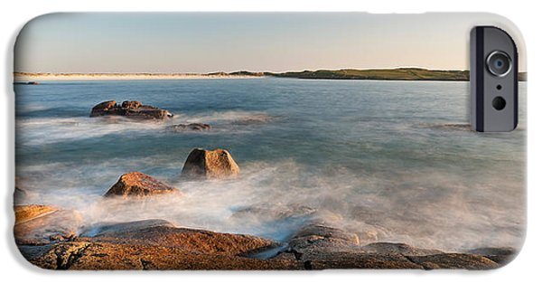 Dog Photography iPhone Cases - Rocks On The Coast, Dogs Bay iPhone Case by Panoramic Images