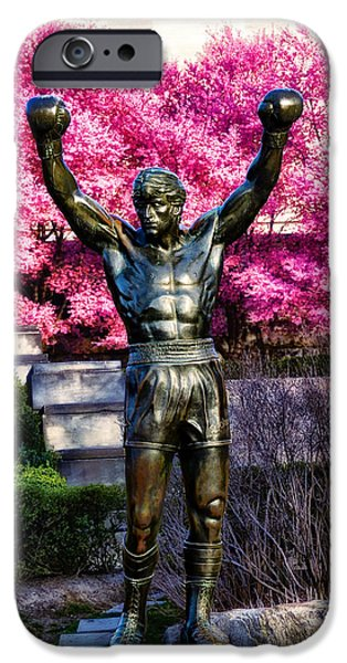 Stallone Digital iPhone Cases - Rocky Among the Cherry Blossoms iPhone Case by Bill Cannon