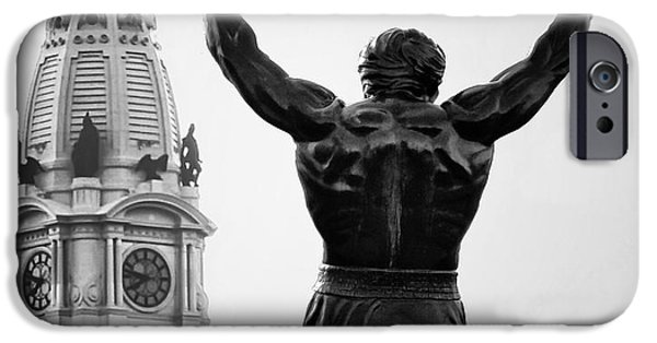 Stallone Digital iPhone Cases - Rocky and Philadelphia iPhone Case by Bill Cannon