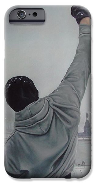 Sylvester Stallone iPhone Cases - Rocky Balboa iPhone Case by Riard