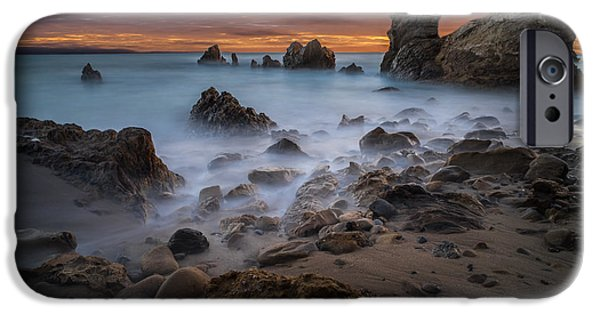 Epic iPhone Cases - Rocky California Beach iPhone Case by Larry Marshall