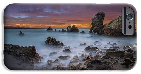 Epic iPhone Cases - Rocky California Beach - Square iPhone Case by Larry Marshall