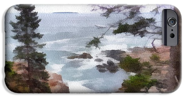 Sea iPhone Cases - Rocky Coast iPhone Case by Helene Guertin