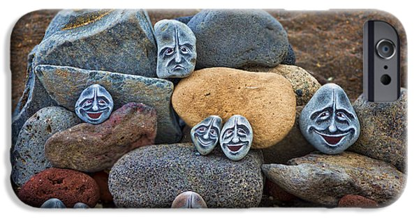 Canary iPhone Cases - Rocky Faces in the Sand iPhone Case by David Smith