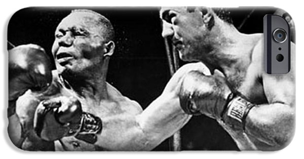 Boxer Digital iPhone Cases - Rocky Marciano vs Jersey Joe Walcott iPhone Case by Anthony Morretta