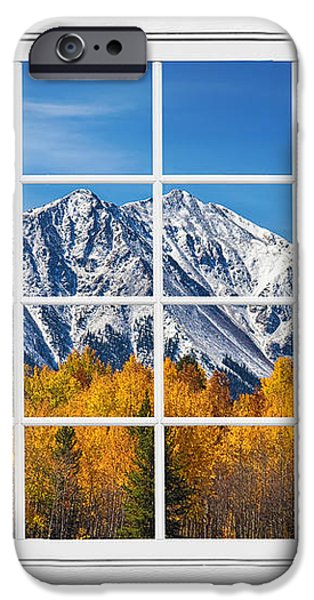 Rocky Mountain Autumn High White Picture Window iPhone Case by James BO  Insogna