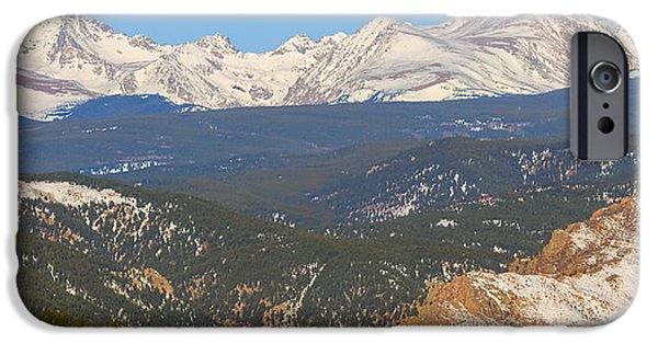 Arapaho iPhone Cases - Rocky Mountain Continental Divide Winter Panorama  iPhone Case by James BO  Insogna