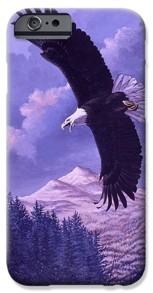 American Eagle Paintings iPhone Cases - Rocky Mountain High iPhone Case by Richard De Wolfe