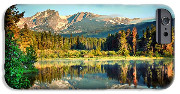 Fort Collins Photographs iPhone Cases - Rocky Mountain Morning iPhone Case by Gregory Ballos